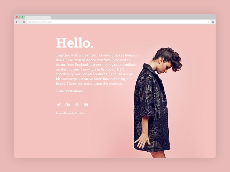 Quick Website With Portfolio By Andrew Couldwell