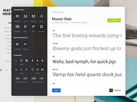 Viewing a Typekit font family