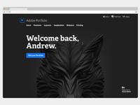 Adobe portfolio marketing welcome