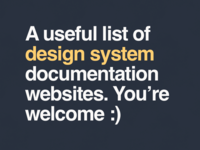 Design system documentation