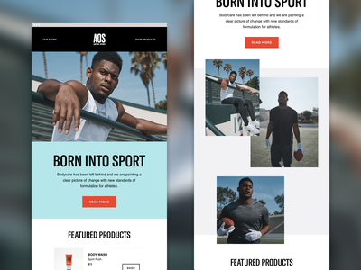 Art Of Sport emails marketing body care email campaign email templates eccomerce sport email