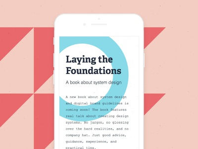 Laying the Foundations branding web deisgn web development simple shapes book responsive design responsive personal minimal marketing clean website