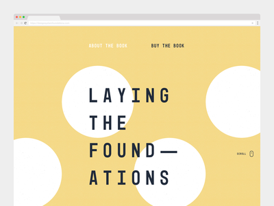 Laying the Foundations website e-commerce ecommerce system design website book clean branding yellow minimal web design web development design systems design system marketing