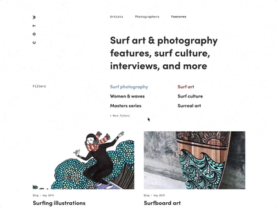 Animated user journey web development blog features art surf art surf surfing minimal clean web animation css animation animation website web design