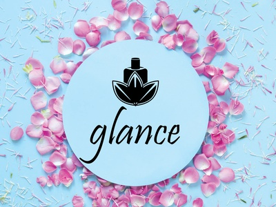 glance : perfume brand logo logo design app icon typography vector branding logo ui illustration design