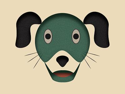 DoggoLingo minimal shapes shape character poster illustrator face graphic design dogillustration doganimation icon doggy grain logo black green dogface dog photoshop animation