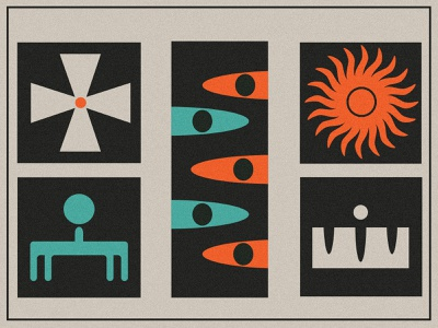 Pieces of 2021 abstract layout poster minimal circle cross flower sun eyes shapes illustration icon abstarct poster