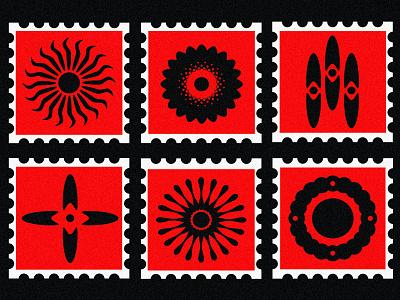 Stamps 2021 minimal sun symbol shapes flower postage postage stamp logo icon stamp