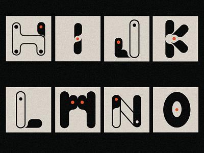 Alphabet design icon graphic design o n m l k j i h letter typography alphabet