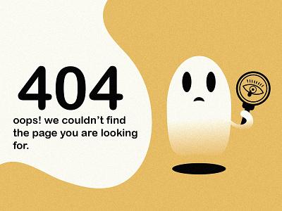 404 error page design illustration graphic design minimal website web design design ghost clean 404page 404 404 error 404 error page