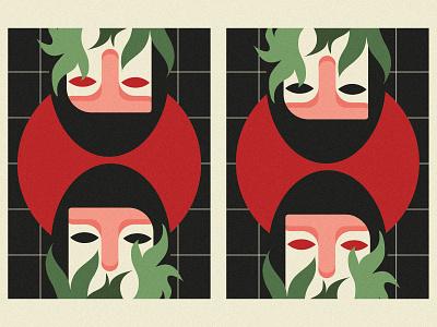 Lady Daydream flower design girl minimal illustration