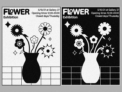 FLOWER EXHIBITION POSTER flower poster flower exhibition minimal shapes art poster design poster design flower graphic design concept art minimal poster abstract poster poster