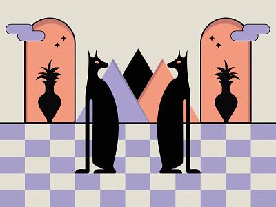 EGYPT egypt shapes minimal design illustration graphic design