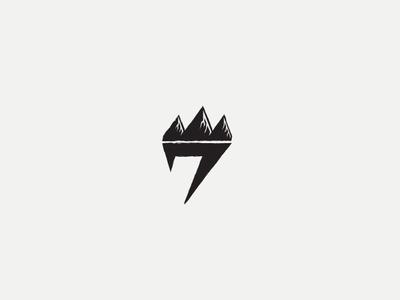 Offroad Motorcycle Logo crown mountain offroad dirt race motocycle moto wear sport logo seven