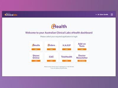 SSO Dashboard - Healthcare Applications login portal saas flat design dashboard application ux web ui single-sign-on sso