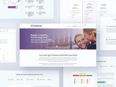 Intestinal Health - eCommerce Website website design ecommerce responsive development html css html website ux web design ui