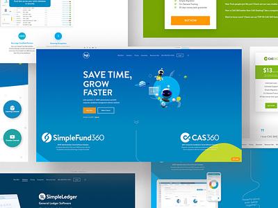 Fintech Website website ux design ui