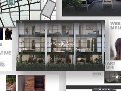 Website - Townhaus West Melbourne Property webdesign website flat ux ui web design