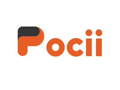 Pocii Logo Design typography branding vector logo design