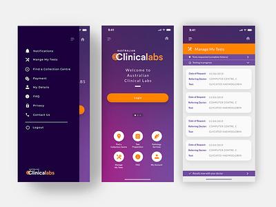 Patient Medical Test App design application ux app ui