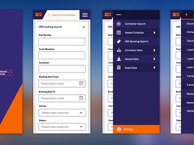VICT -  Mobile Search portal mobile ui ux design ui design uxui uiux ux ui mobile filters search bar search application app