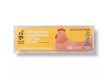 Target Good & Gather Eggs target food packaging chicken illustration eggs