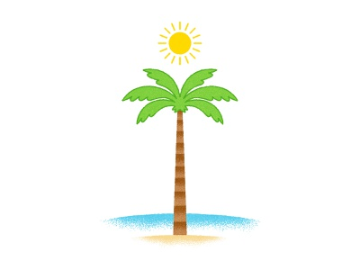 palmtree_01.jpg vacation sand waves water sun beach tree palm tree palm