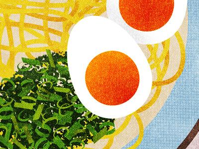 141 dinner lunch green onions scallions noodles ramen egg