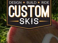 Custom skis logo design