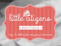 Little citizens Boutique logo progression