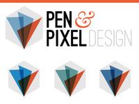 Pen & Pixel logo concepts