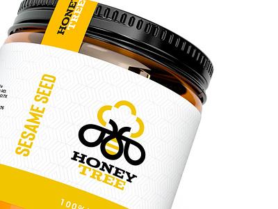 Honey Tree Branding bee honeybee tree honey design identity branding agency minimalism logotype logo brands branding