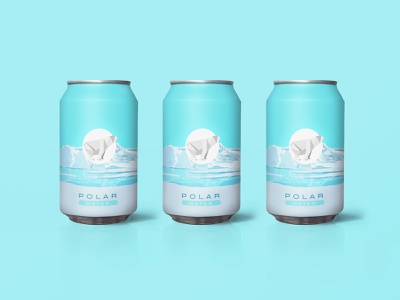 POLAR WATER 5 ice water package design package pack packaging bear polarbear polar logotype logo brands branding