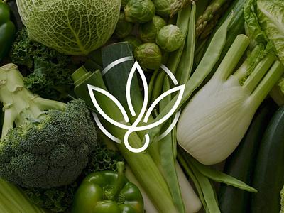 wintergreen leaf green brand identity design monogram logotype minimalism vegan food vegan logo brands branding