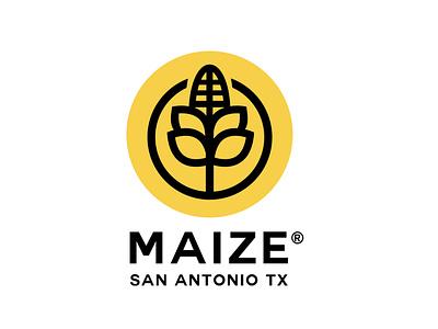 maize yellow maiz logofolio logos maize brand identity design monogram minimalism logotype logo brands branding