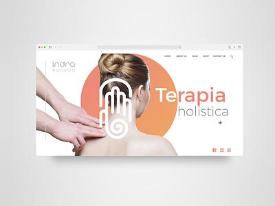 indra ui design ui identity design minimalism logotype logo healthy holistic health indra brands branding