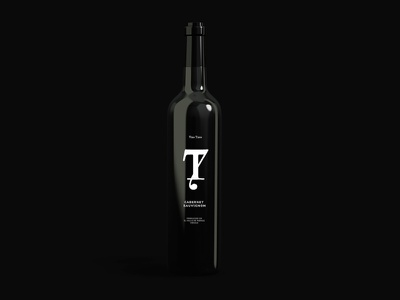 Wine 7t wines logo monogram black brands branding design wine