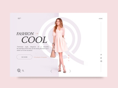 Fashion Cool UI design