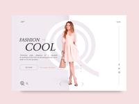 Fashion Cool UI design