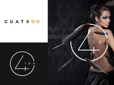 CUATRO 100 BRANDIN fashion design nightclub fashion brand fashion branding agency design black monogram minimalism logotype logo brands branding