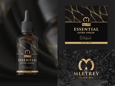 Mletrey Label Design luxury modern elegant creative graphic design ui logo illustration drink packaging design cup branding box olive oil packaging bottle label label design