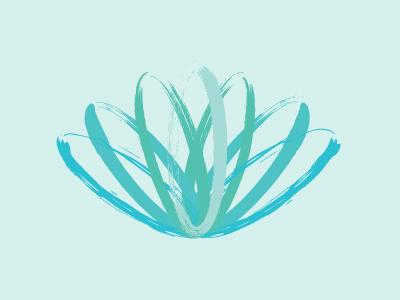 Brush Lotus brush lotus teal turquoise growth logo vector paint transition mark
