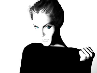 Sketch wacom eyes woman illustration art sketch