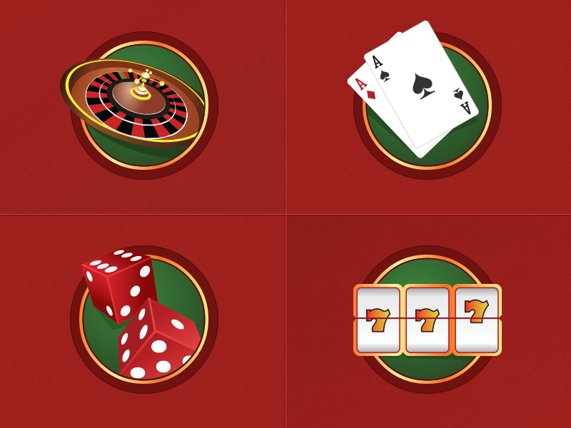Casino Icons cta app vector icon fresh design art illustration clean roulette android royal gold jackpot spin ui games casino icons
