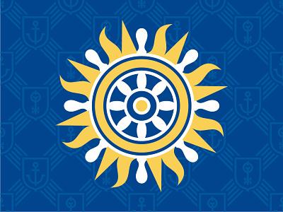 Каспийская Гавань logo modern simple clean flat