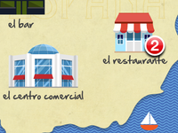 Spanish Learning App - Map screen detail
