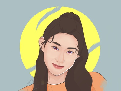 ITZY Chaeryeong photoshop art portrait vexel vector graphic design