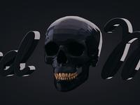 Skull Black Gold