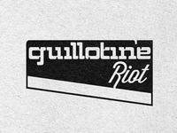 Guillotine Riot Logo Concept