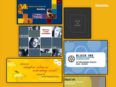 Interactive Design: Deloitte design graphic design interactive ui corporate
